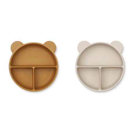 Immagine di Liewood® Set di piatti in silicone Connie Golden Caramel/Sandy Mix