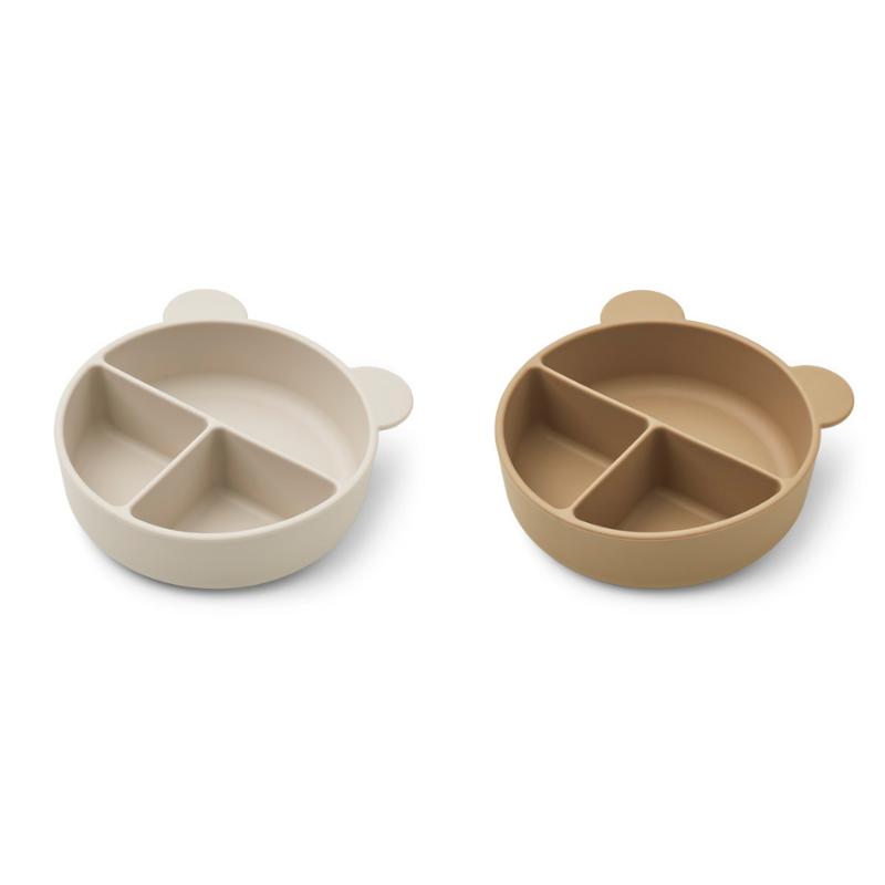 Immagine di Liewood® Set di piatti in silicone Connie Sandy/Oat Mix