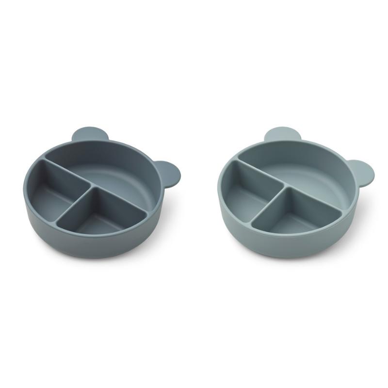Immagine di Liewood® Set di piatti in silicone Connie Whale Blue Mix