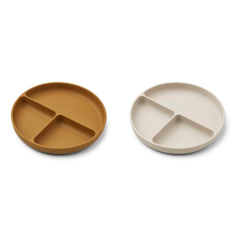 Immagine di Liewood® Set di piatti in silicone Harvey Golden Caramel/Sandy Mix