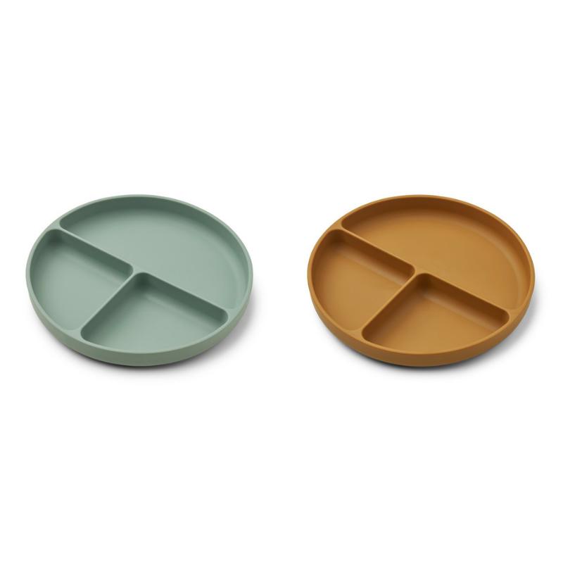 Immagine di Liewood® Set di piatti in silicone Harvey Peppermint/Golden Caramel Mix