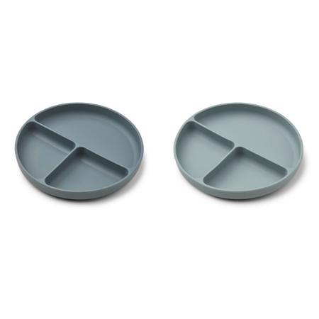 Immagine di Liewood® Set di piatti in silicone Harvey Whale Blue Mix
