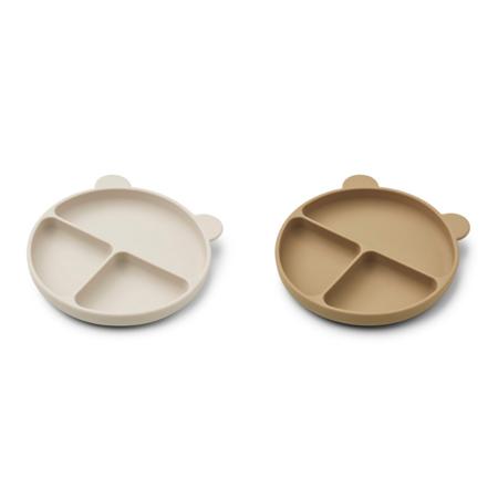 Immagine di Liewood® Set di piatti in silicone Merrick Sandy/Oat Mix