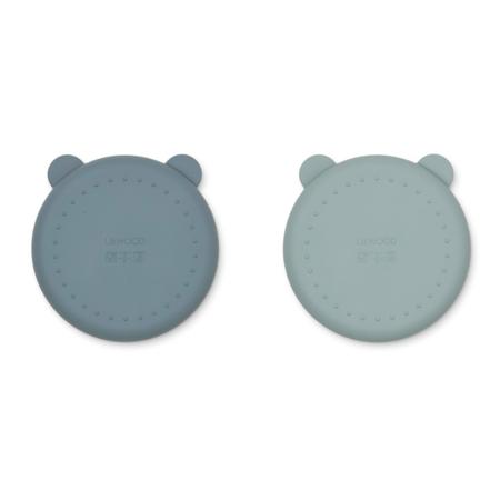 Immagine di Liewood® Set di piatti in silicone Merrick Whale Blue Mix