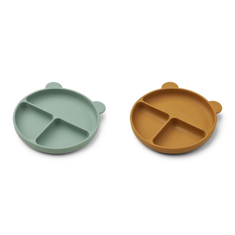 Immagine di Liewood® Set di piatti in silicone Merrick Peppermint/Golden Caramel Mix