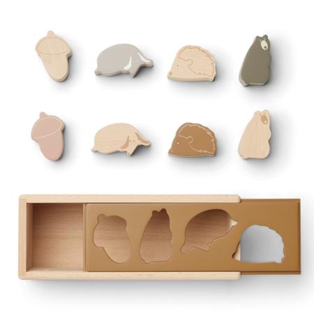 Liewood® Puzzle Box Midas Friendship Golden Caramel Multi Mix