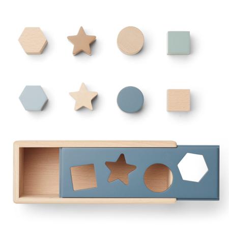 Immagine di Liewood® Puzzle Box Midas Geometric Whale Blue Multi Mix