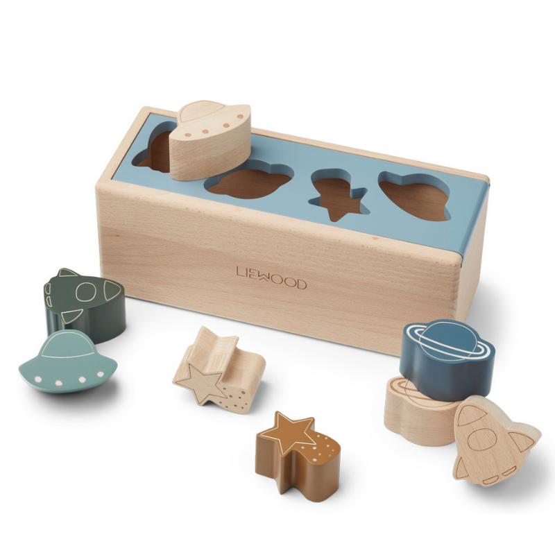 Immagine di Liewood® Puzzle Box Midas Space Blue Fog Multi Mix