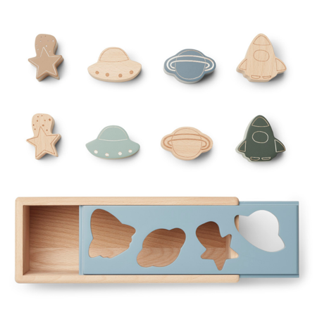 Liewood® Puzzle Box Midas Space Blue Fog Multi Mix