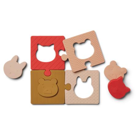 Immagine di Liewood® Puzzle in silicone Bodil Rose Multi Mix