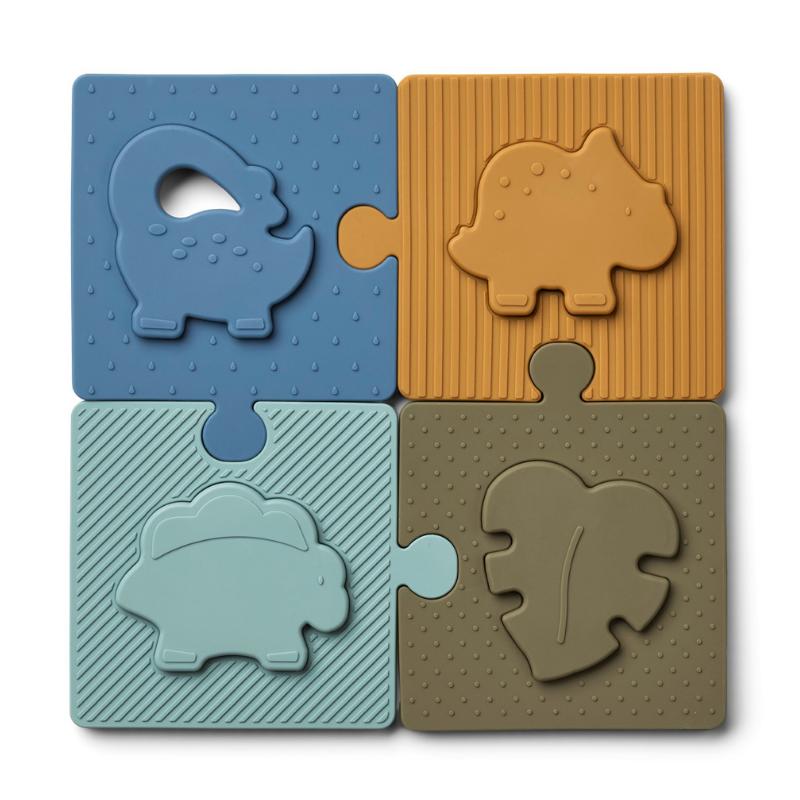 Immagine di Liewood® Puzzle in silicone Bodil Dino Blue Multi Mix