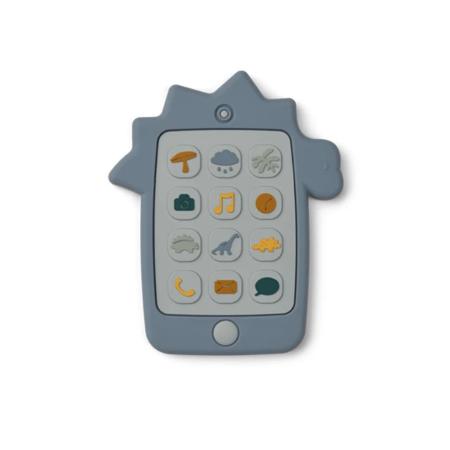 Immagine di Liewood® Giocattolo di attività  in silicone Telefono Dino Blue Wave