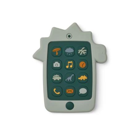 Immagine di Liewood® Giocattolo di attività  in silicone Telefono Dino Dove Blue