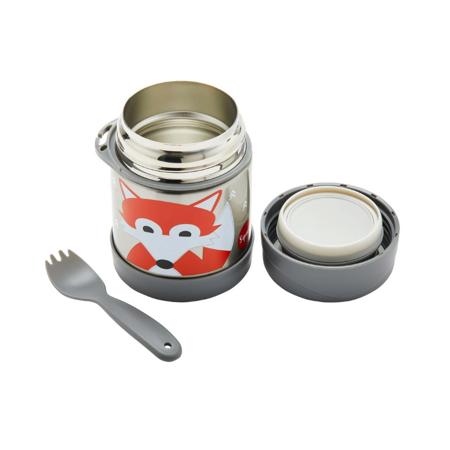 3Sprouts® Contenitore thermos cucchiaio/forchetta Volpe