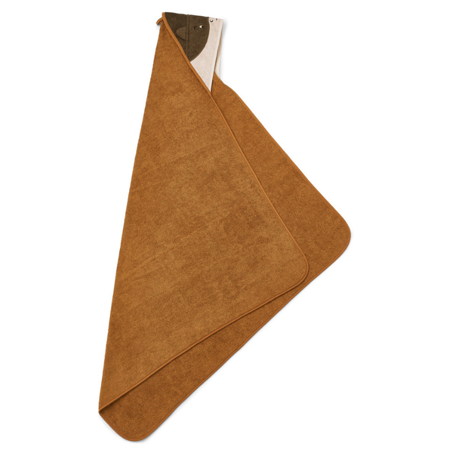Immagine di Liewood® Asciugamano con cappuccio Albert Superhero/golden caramel 70x70