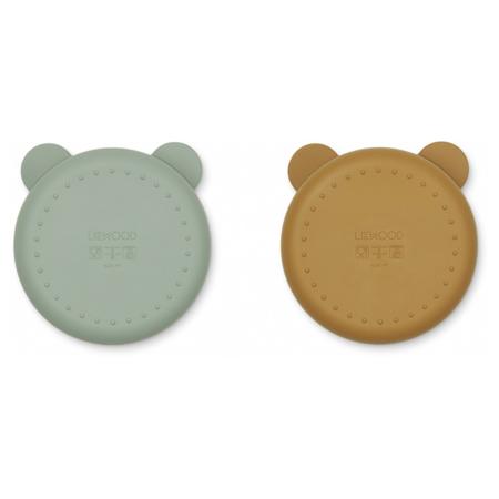 Immagine di Liewood® Set di piatti in silicone Connie Peppermint/Golden Caramel Mix