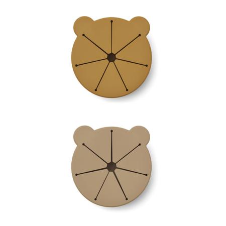 Immagine di Liewood® Set di 2 ciotole per snack in silicone Kelly Golden Caramel Oat Mix