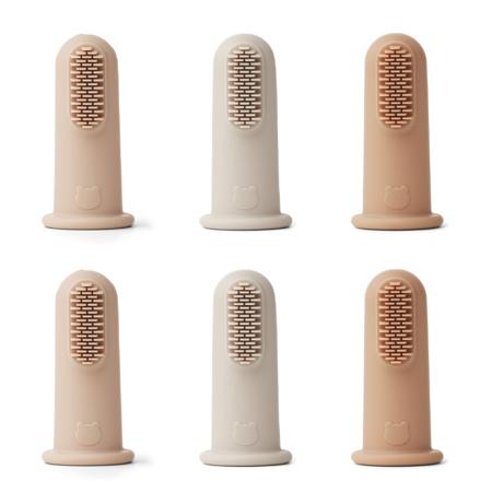 Liewood® Spazzolino da denti per il dito 6 pezzi Rose Multi Mix