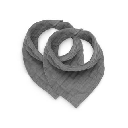 Immagine di Jollein® Bavaglino di cotone Storm Grey 2 pezzi