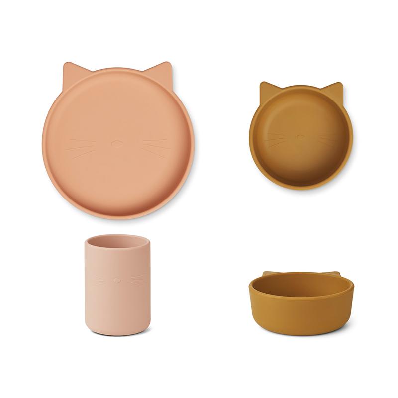 Immagine di Liewood® Set pappa in silicone  Cyrus  Junior Cat Rose Multi Mix