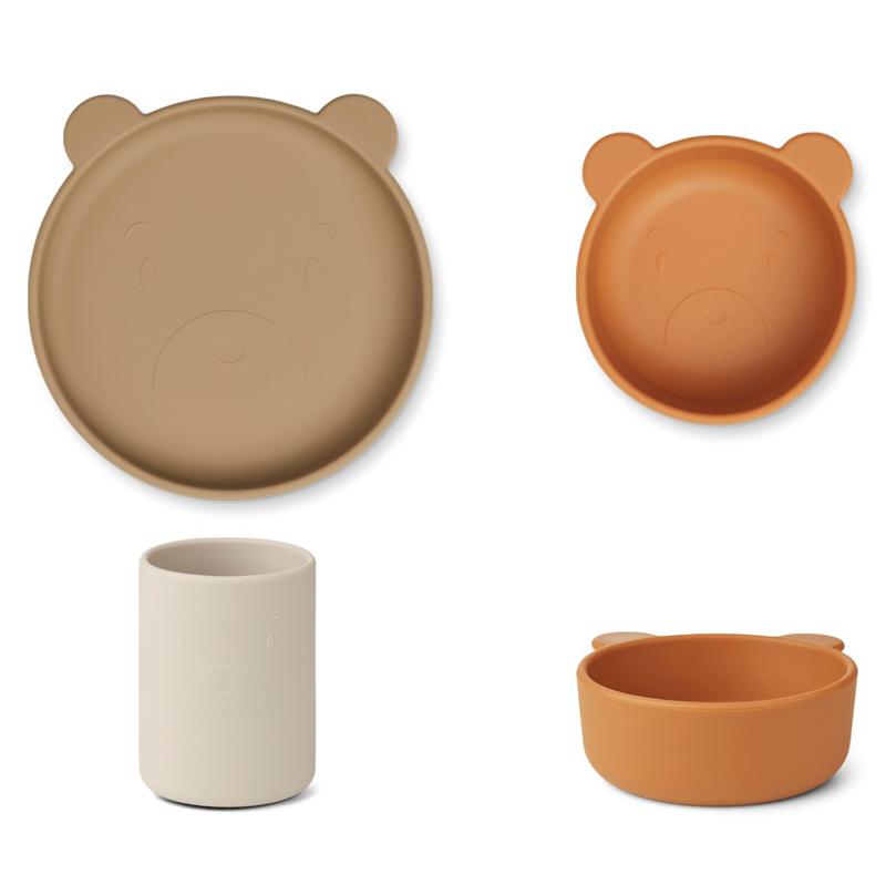 Immagine di Liewood® Set pappa in silicone  Cyrus  Junior Mr Bear/oat multi mix