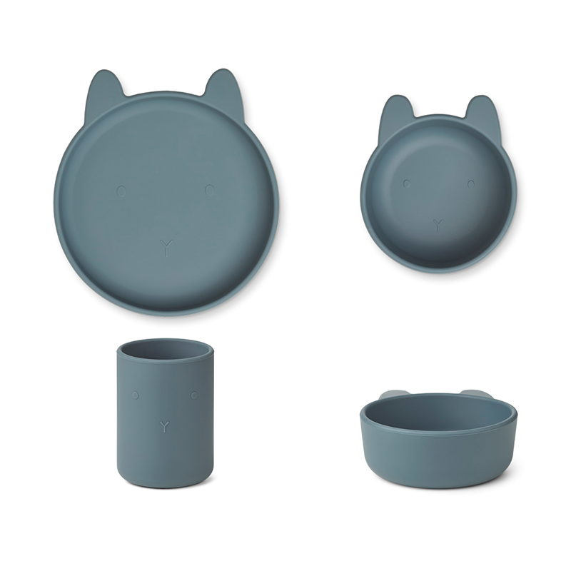 Immagine di Liewood® Set pappa in silicone  Cyrus  Junior Rabbit Whale Blue