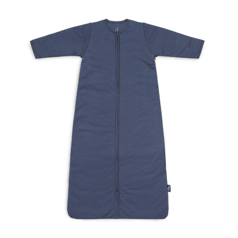 Immagine di Jollein®  Sacco nanna per bambini con maniche staccabili 70cm Stripe Jeans Blue TOG 3.5