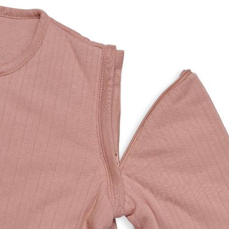 Immagine di Jollein® Sacco nanna per bambini con maniche staccabili 70cm Stripe Rosewood TOG 3.5