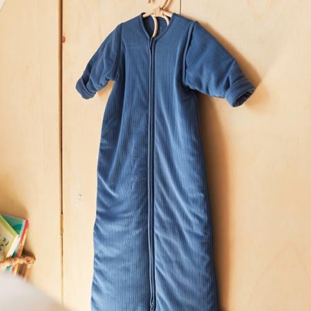 Immagine di Jollein®  Sacco nanna per bambini con maniche staccabili 90cm Stripe Jeans Blue TOG 3.5