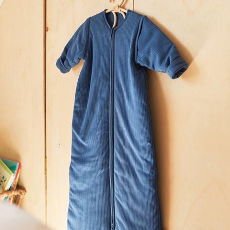 Immagine di Jollein®  Sacco nanna per bambini con maniche staccabili 110cm Stripe Jeans Blue TOG 3.5
