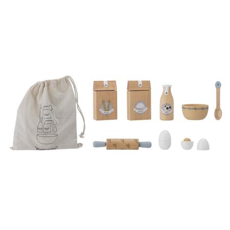 Bloomingville® Gioco in legno per preparare pasticini Nature