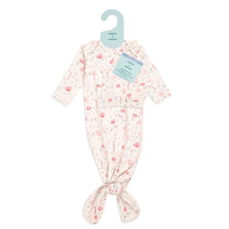 Aden+Anais® Confezione regalo Sacco nanna e berretto Comfort Knit (0-3M) Perennial
