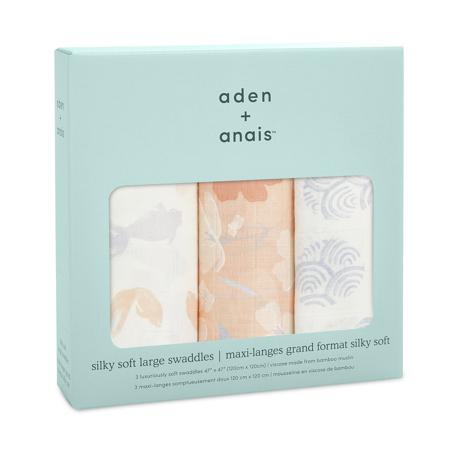 Aden+Anais® Set di 3 teli in mussola Koi Pond 120x120