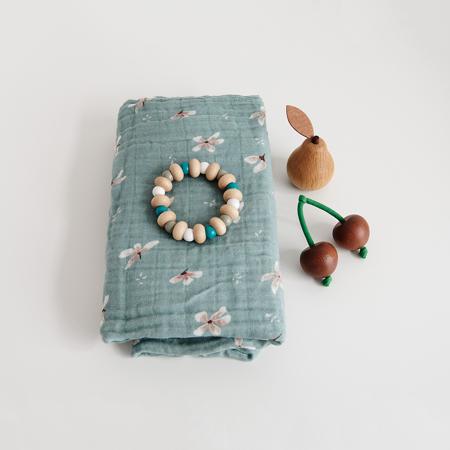 CamCam® Set di pannolini tetra GOTS Windflower Blue