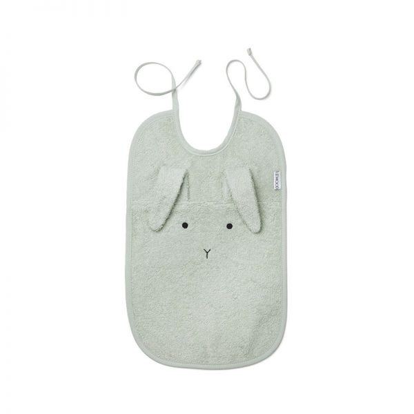 Evitas_Liewood_Terry_Bib_Rabbit_dusty_mint